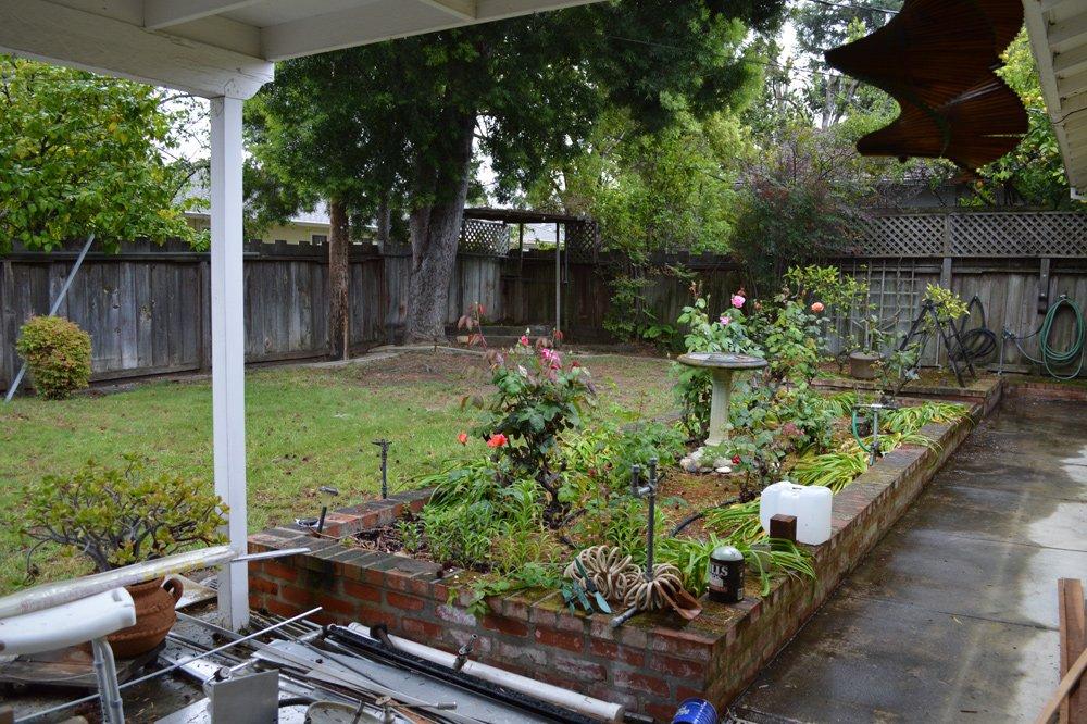 Backyard before cleanup