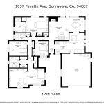Main floor diagram: 1037 Payette Ave, Sunnyvale, CA, 94087